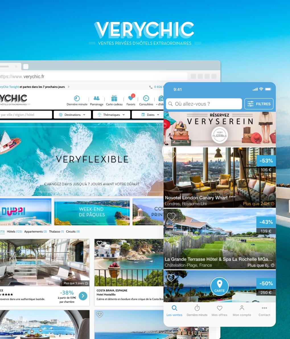 Application Verychic réalisée par I SEE U