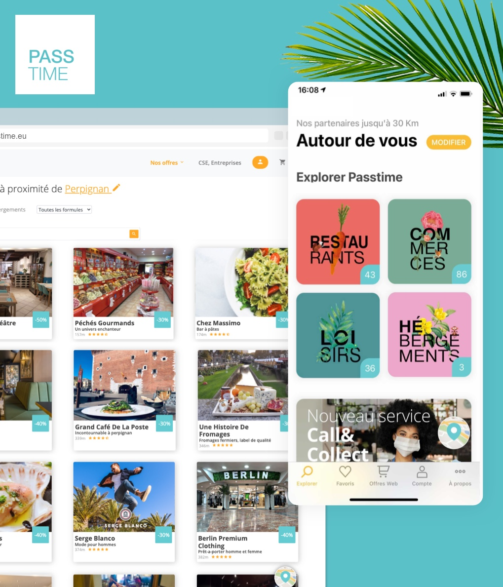 Passtime, une application et un site réalisés par I SEE U
