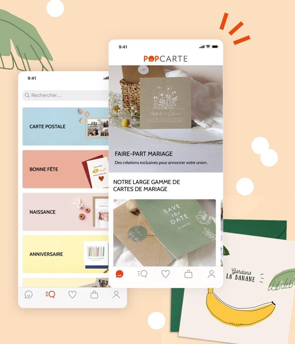 Popcarte, une application conçue et créé par I SEE U